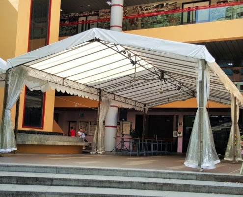 A-Shaped Tentage with Rain Cover