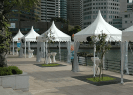 gazebo tent with rain curtains