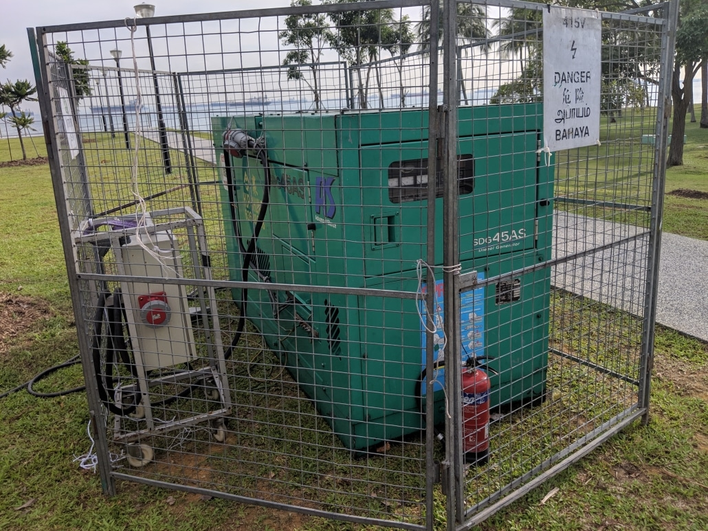45 kva generator with fencing