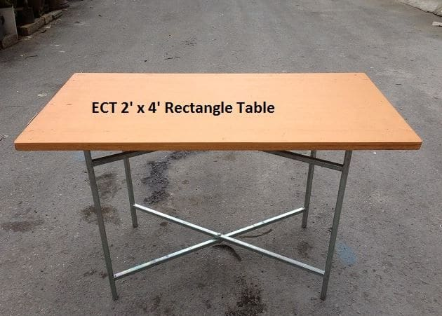 2ft x 4ft table