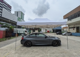Side view 3m x 4.5m tent