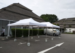 2 portable tent at dempsey