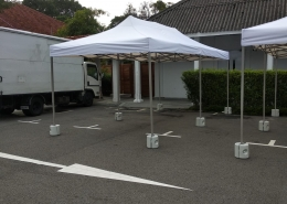 3m x 6m portable tent with water weight