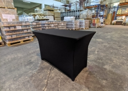 rectangle table with spandex cover
