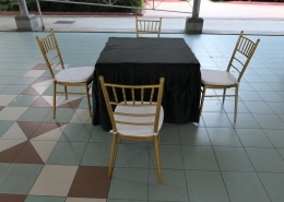 tiffany chair and square table