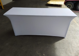 white spandex cloth