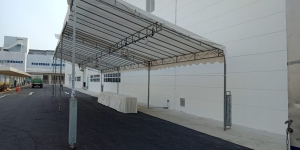 20ft x 60ft single sloping tent