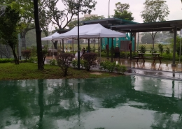 3m x 6m tent at BBQ event at local park