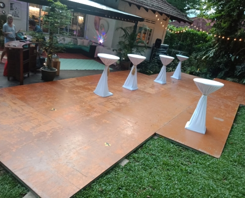 Flooring for a dance party