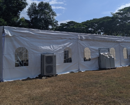 A-shaped aircon tentage