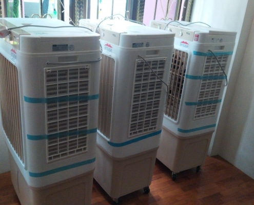 home gathering using air coolers